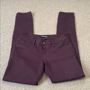 Express Plum Skinny Jeggings